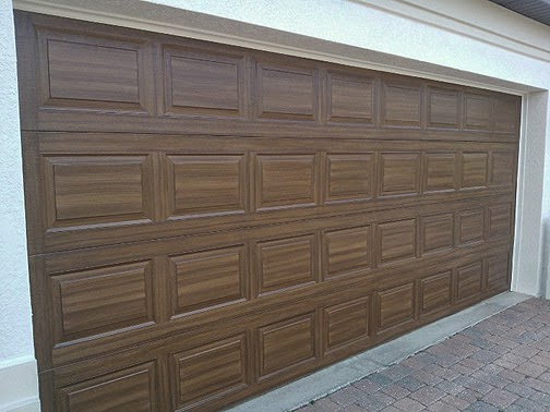 June 2014 everything i create paint garage doors to for Wood looking garage doors