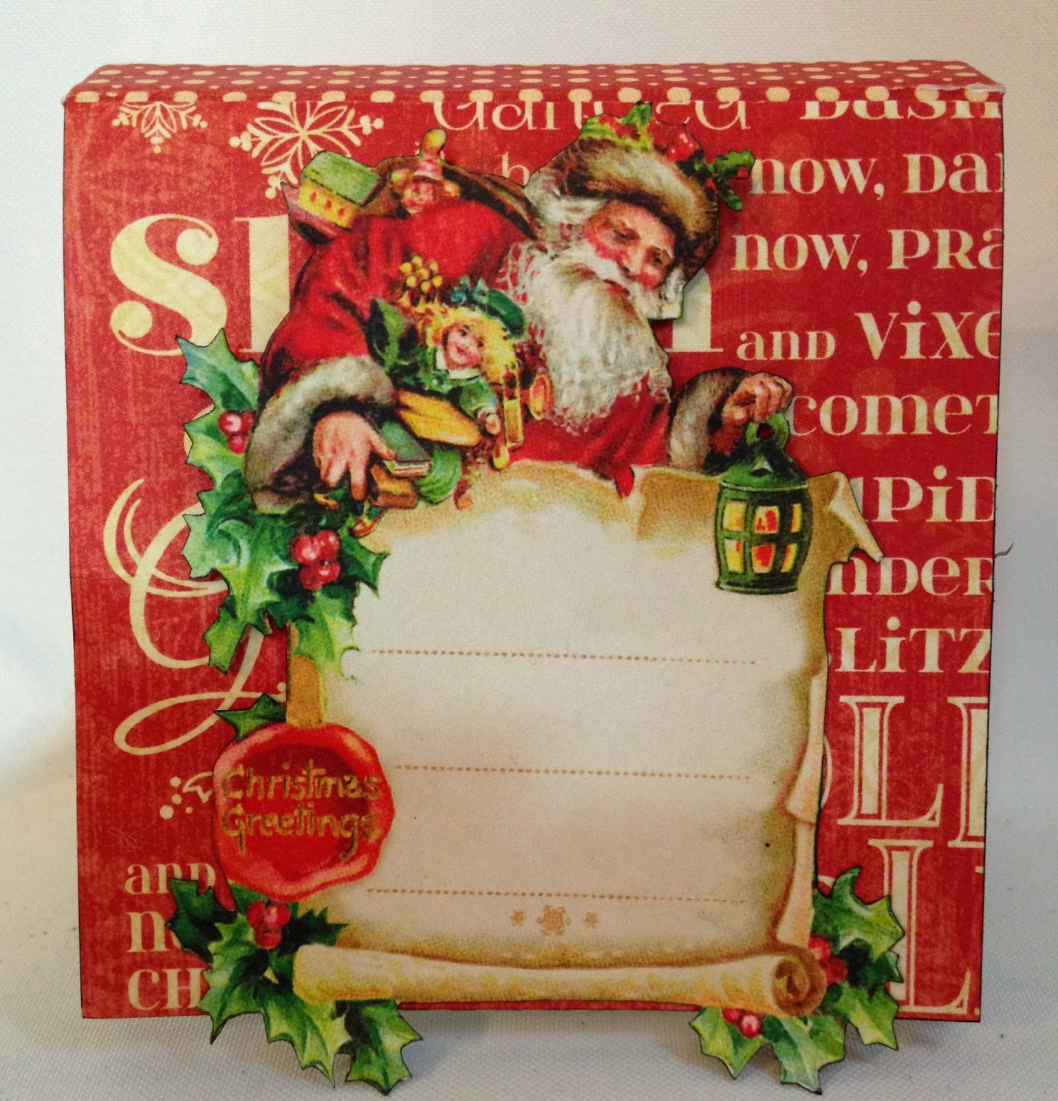 Scrapbook ideas christmas card - Here The Card Is Closed