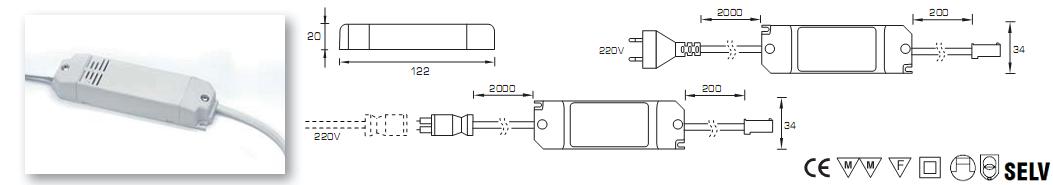 ficha tecnica transformador LED