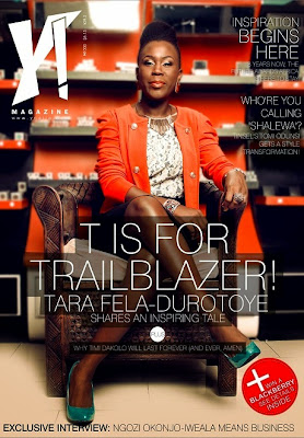 Tara Durotoye cover the new edition of Y! magazine