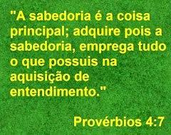 Provérbios 4:7