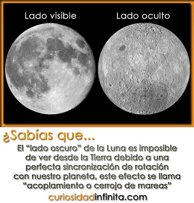 el lado oscuro de la luna, por que vemos el mismo lado de la luna?