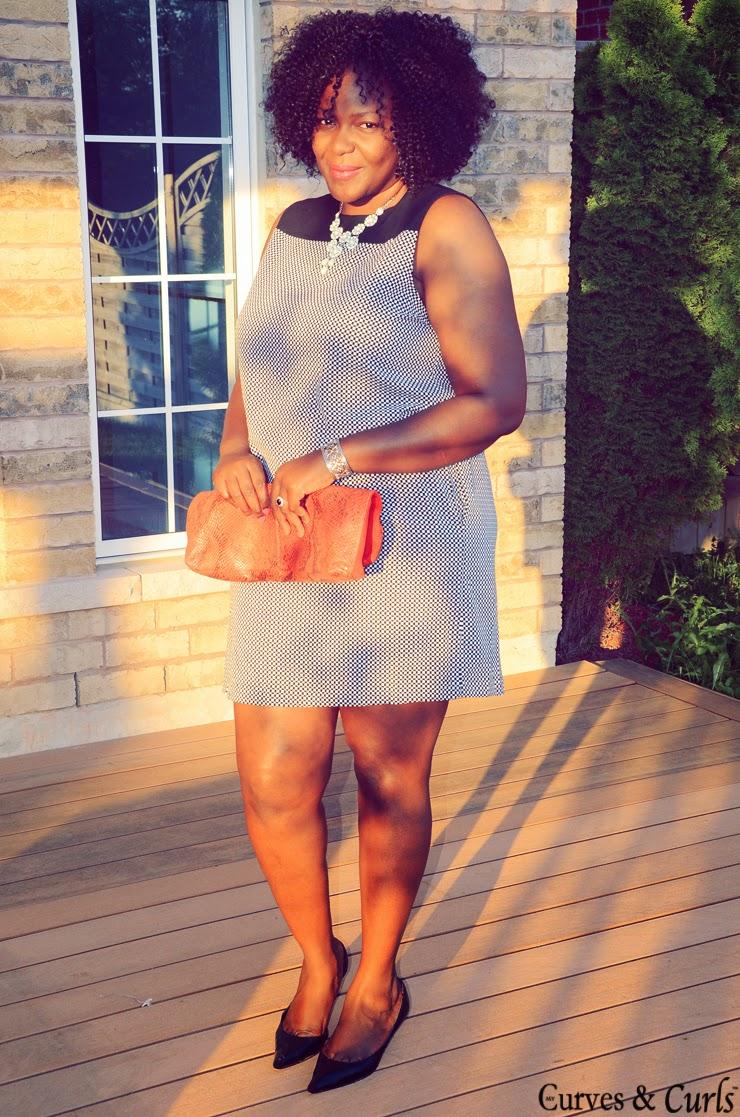 Joe Fresh mini checkered dress/tunic -- Plus size fashion-mycurvesandcurls
