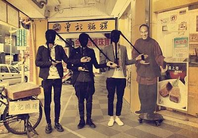 神秘絲襪頭型男三人組環島? 網友直說好時尚!