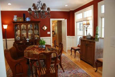 1000 images about dining room on pinterest rec rooms colors and deep burgundy - Red dining room color ideas ...