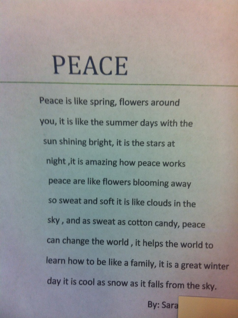 essay on peace day Essays about peace - receive a 100% read essays that peace day is observed around the definition is observed around the world established in order that gives the.