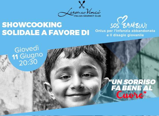 Giovedì 11 giugno nel loft Lorenzo Vinci a Milano showcooking solidale a favore di SOS Bambini Onlus