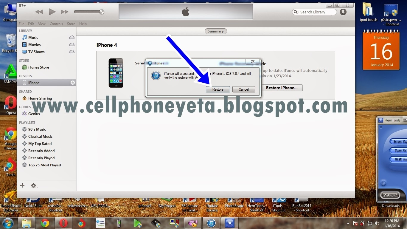 how to fix iphone 4 when it is disabled