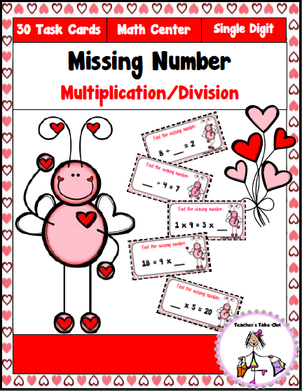 Missing Number Multiplication Division