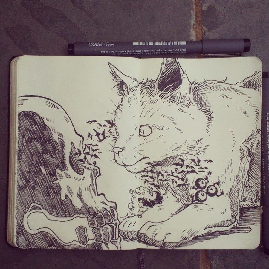 01-#1-Youre-Scarier-Than-you-Think-365-Days-of-Doodles-Gabriel-Picolo-www-designstack-co