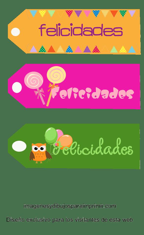Etiquetas de felicidades para imprimir - Etiquetas para regalos para imprimir ...
