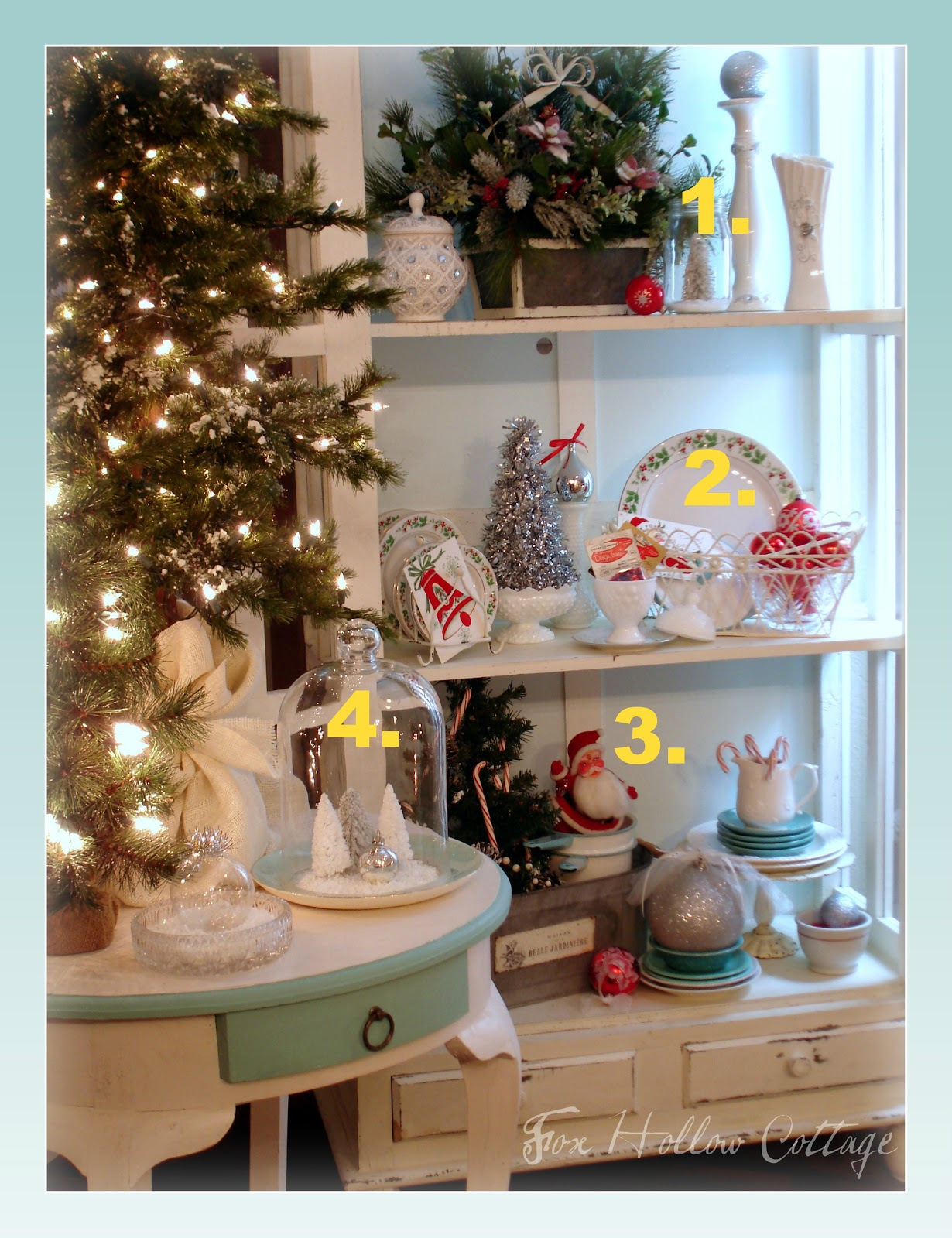 Thrift Store Home Decor Ideas Part - 49: Decorating With Thrift Store Finds {Christmas Edition} - Fox Hollow Cottage