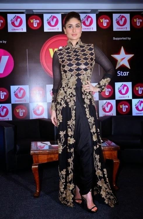 Kareena Kapoor in Pink White Anarkali Churidar Suits in