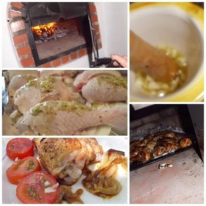 pollo al horno de leña