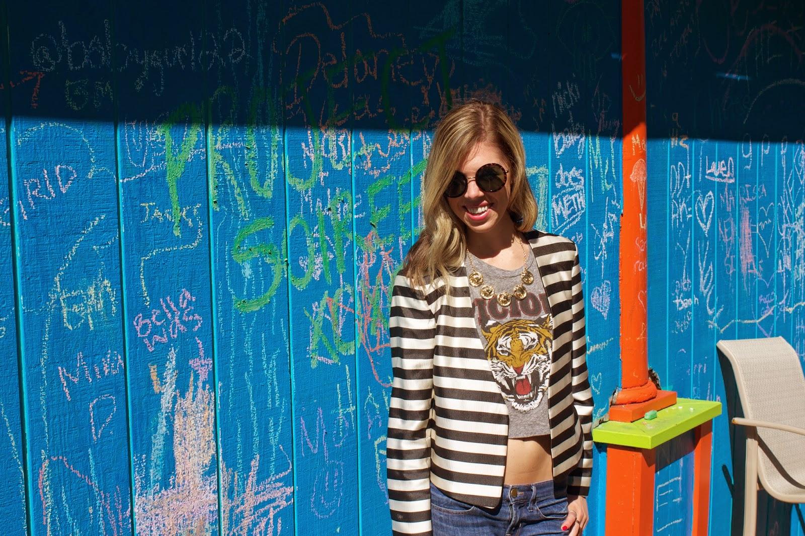Project Soiree - Fashion - Blazer - Round Sunglasses
