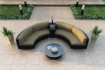 Outdoor Curved Sectional Sofa