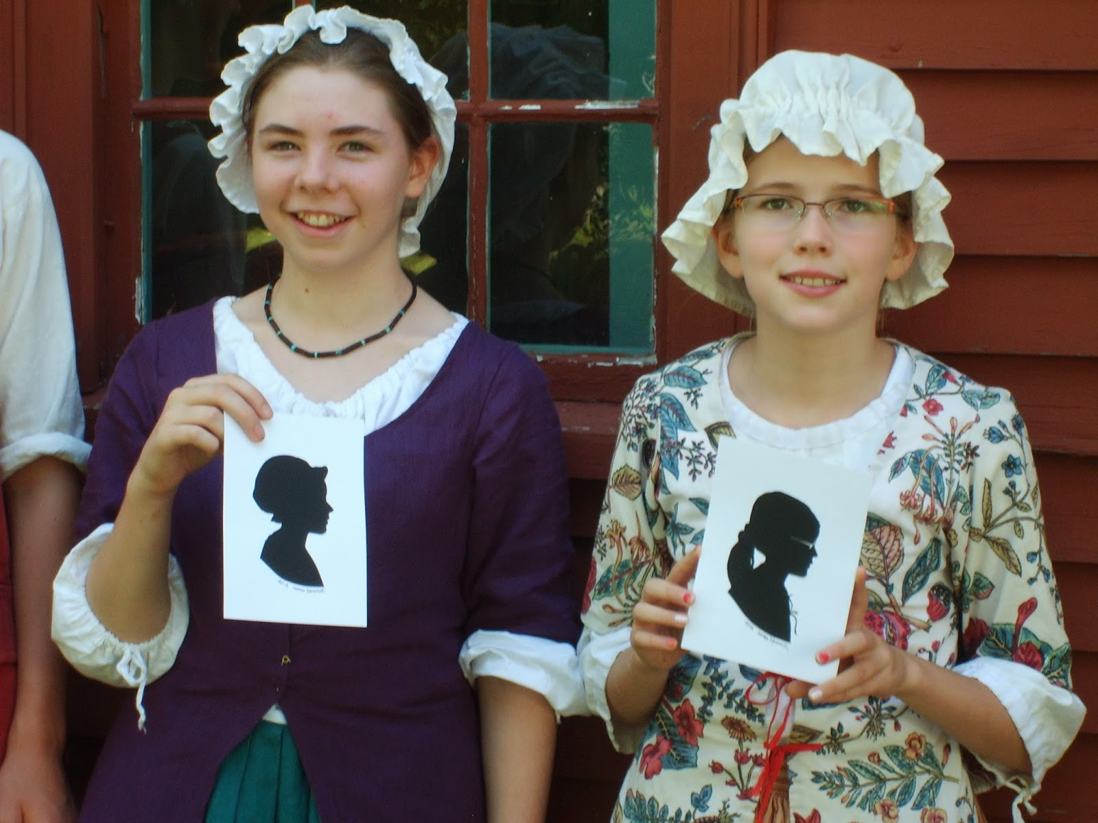 Silhouettes,Traditional dress, Historic York Village, York, Maine