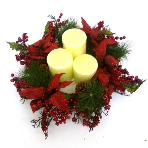 Centros de mesa para eventos decorar tu casa es for Centros navidenos con velas