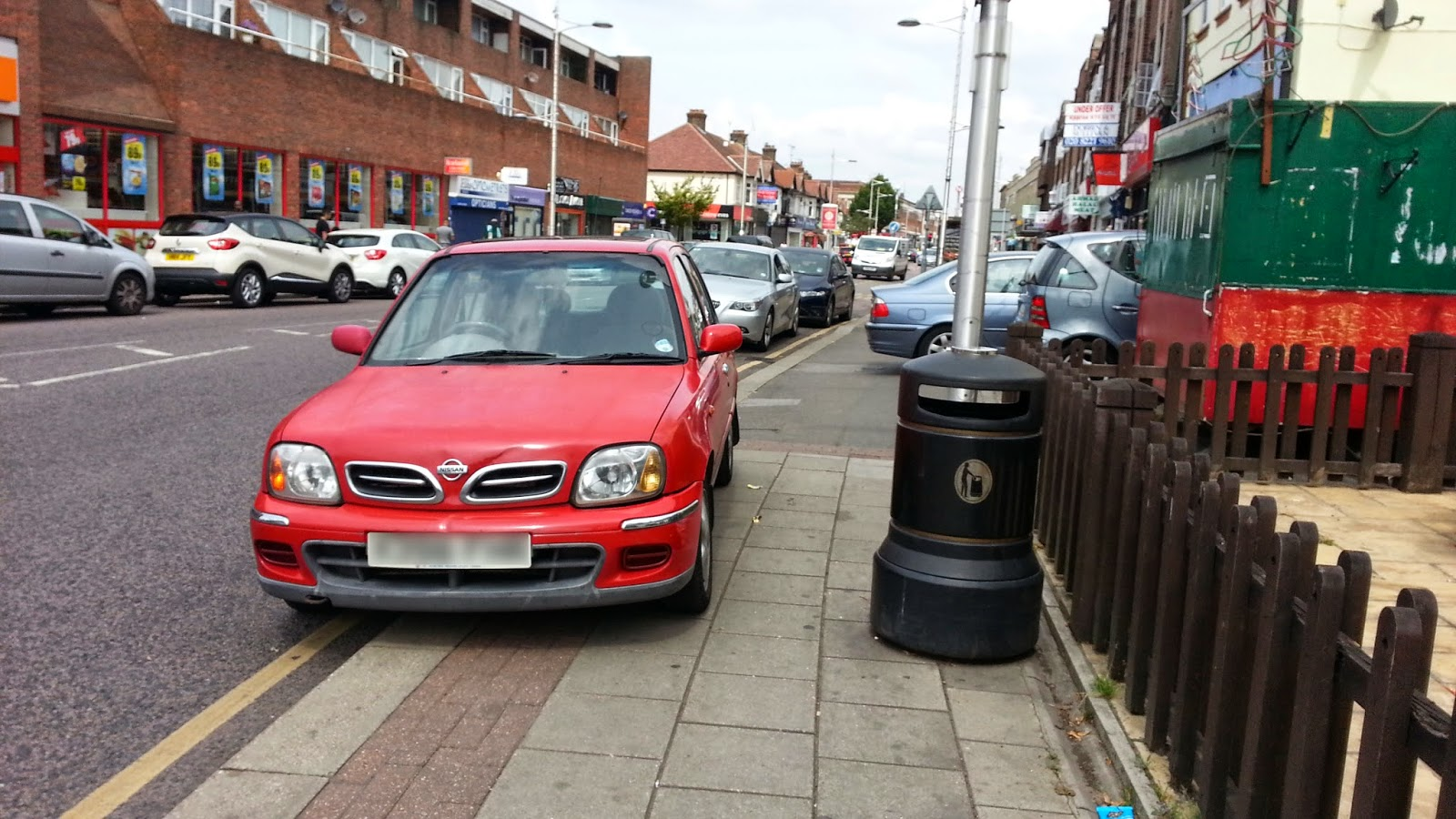 Outside The Chequers, High Street Barkingside, 20th July 2014
