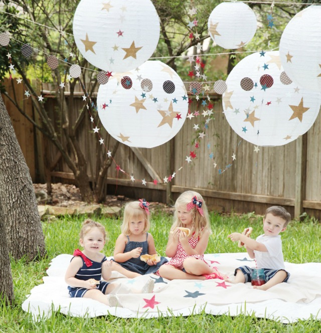 4th Of July Kids Picnic With Minted Design Improvised