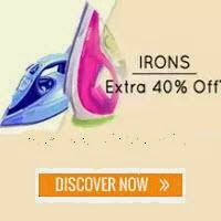 Paytm: Buy Irons upto 60% off and 5% Cashback from Rs.320