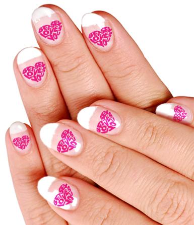 love heart nails  sopho nyono