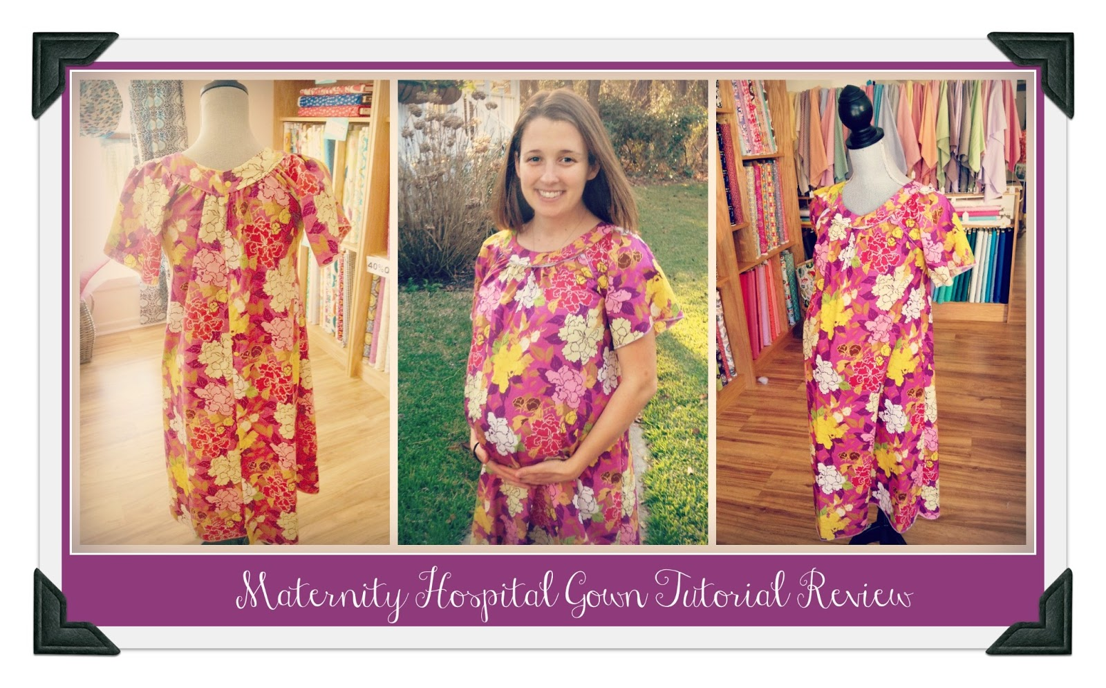 We Are Sew Happy Maternity Hospital Gown Tutorial Review