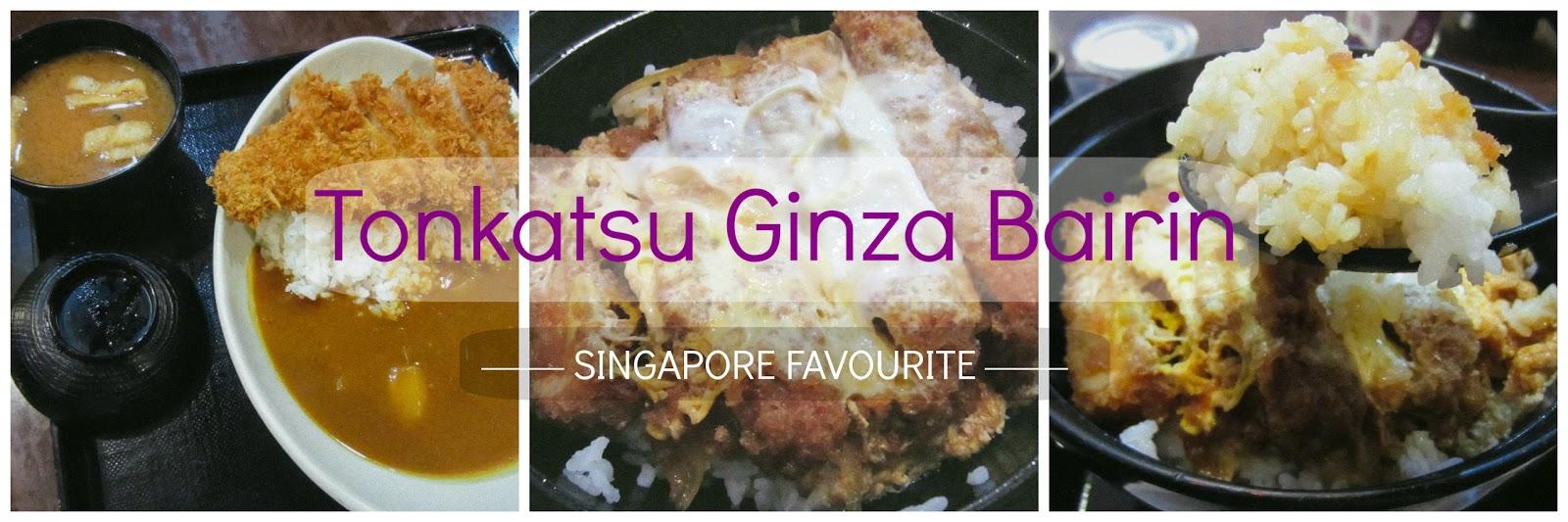 Tonkatsu Ginza Bairin Menu Singapore Tonkatsu Ginza Bairin