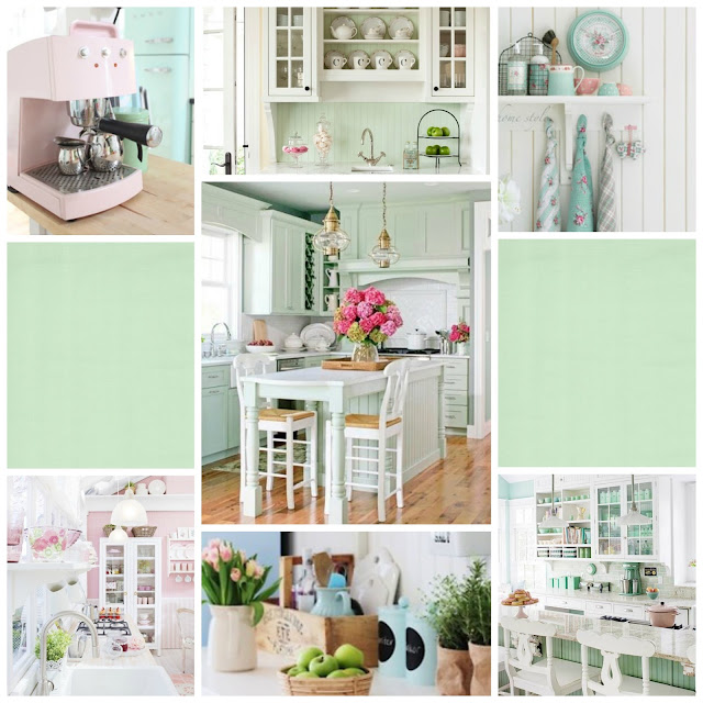 mint and pastel kitchen ideas