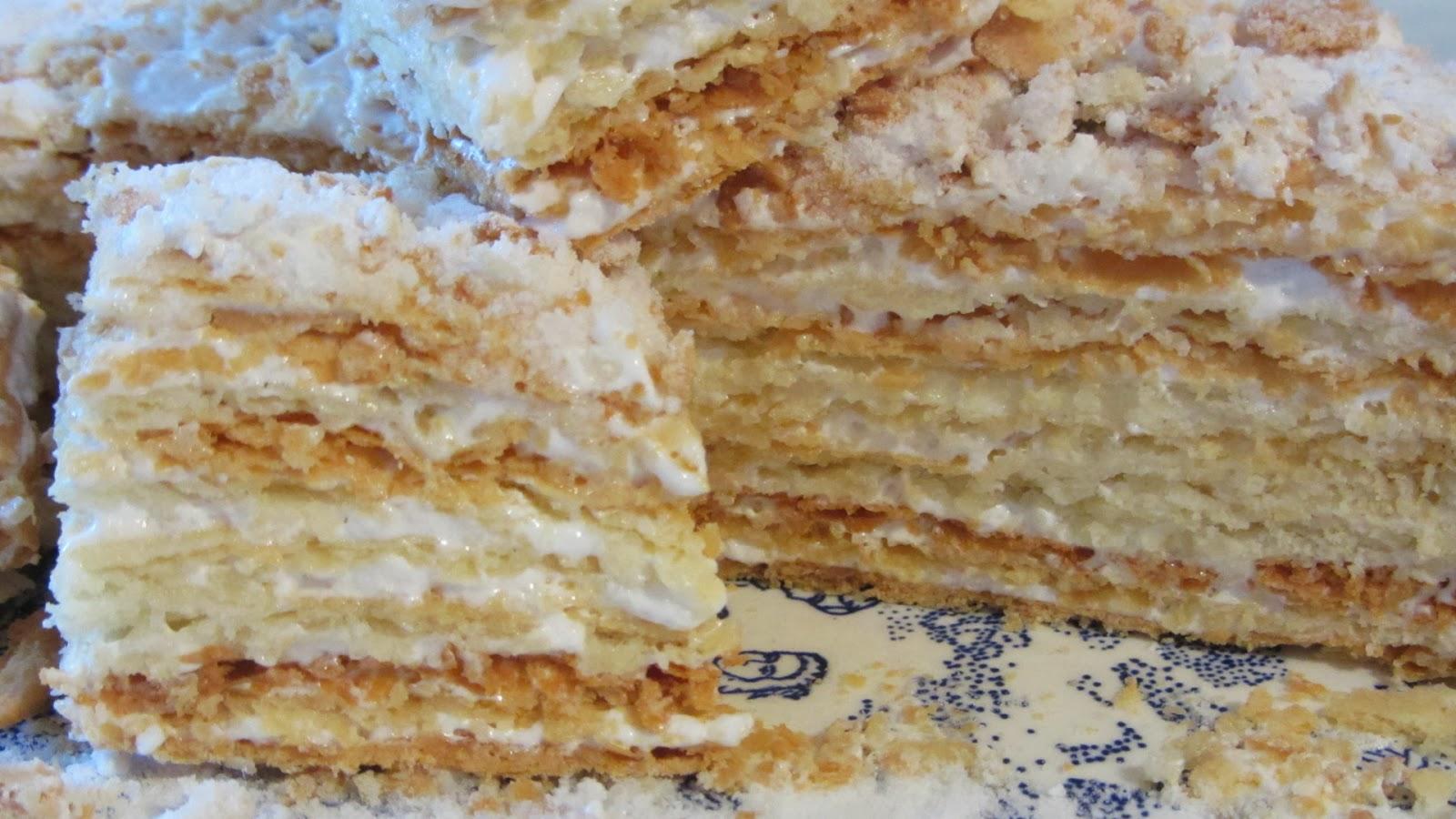 Рецепт торта наполеон с белковым кремом