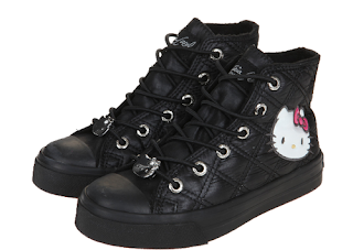 Hello Kitty Black Quilted Sneakers, cute shoes