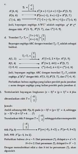 Soal Transformasi Geometri Dengan Jawaban Dan Pembahasan Materi Soal Ujian Dan Kunci Jawaban