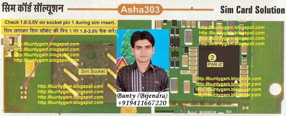 Nokia Asha 303 Insert SIM Card Solution By BuntyGSM Mobile Repairing