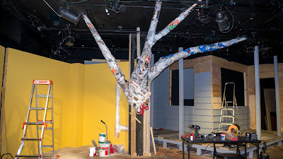 Theater set trees designed, built, sculpted, textured and painted by Syd Stevens.