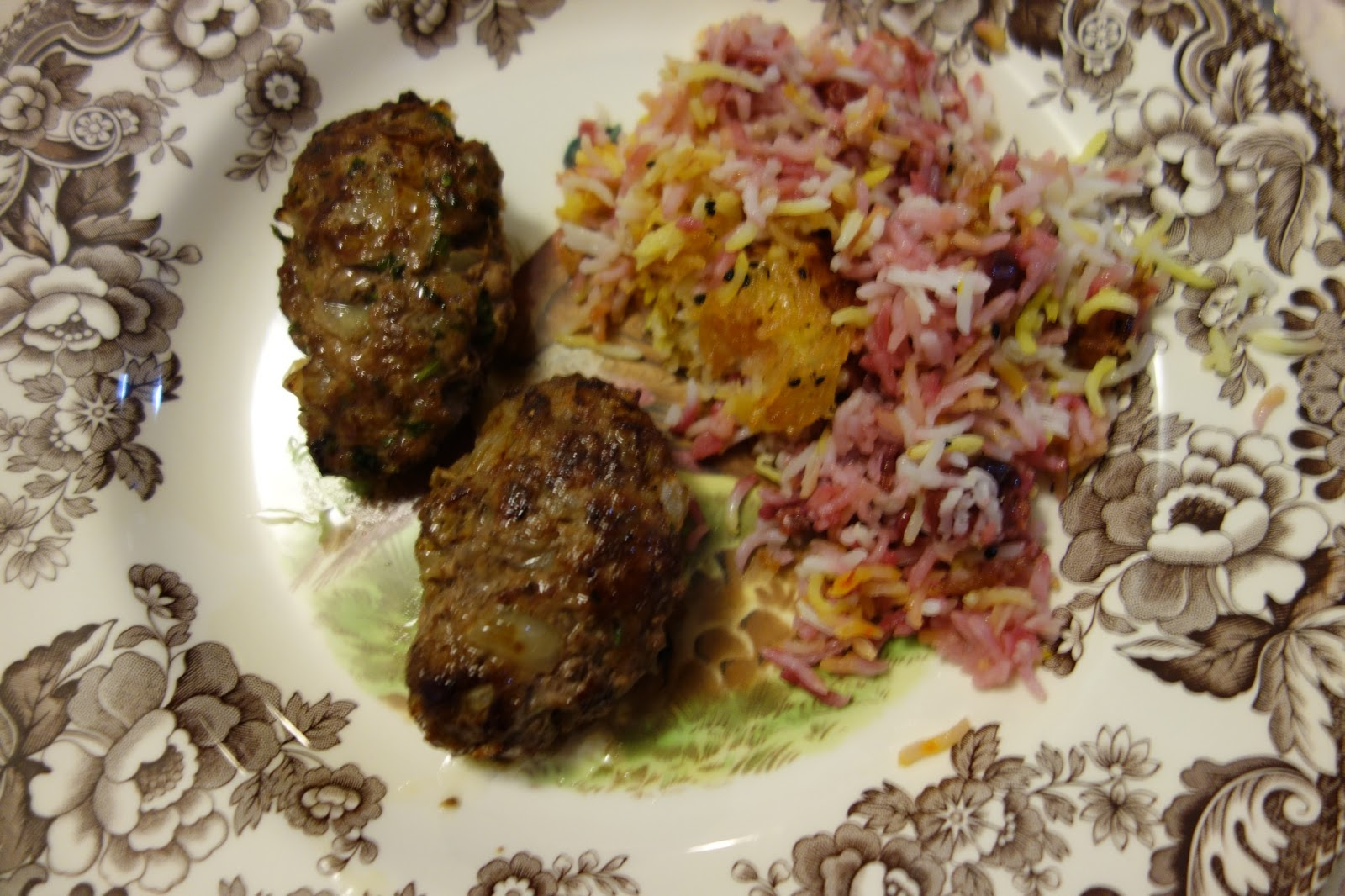 La Dolce Duchessa: Sour Cherry and Saffron Rice with Lamb and Beef ...