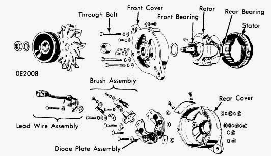 1963_hitachi_alternator_assembly repair manuals hitachi alternators 1963 74 models Ford Alternator Wiring Diagram at soozxer.org