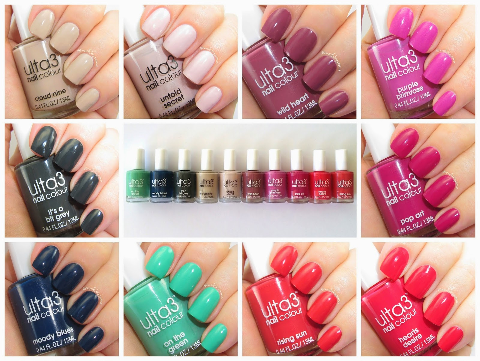 Nails By Jema: Ulta3 June 2014 Release Review & Swatches