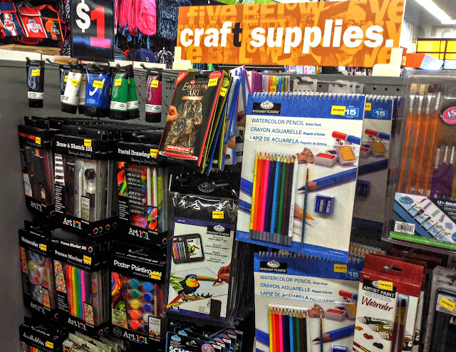 Craft supplies at Five Below