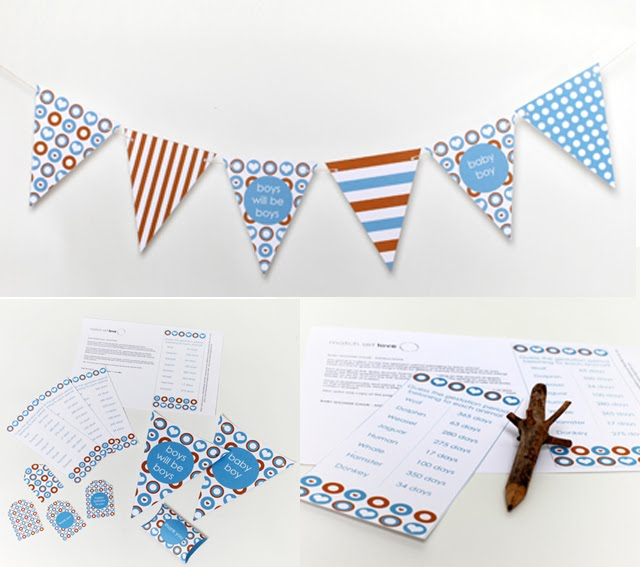 match set love feature toffee turquoise baby shower add on