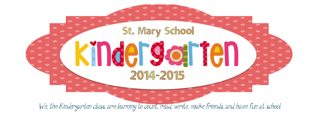 St. Mary Kindergarten 2014-2015