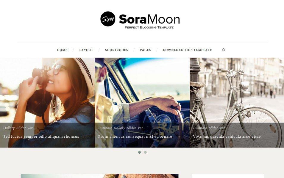 Sora Moon Minimal Blogger Tema