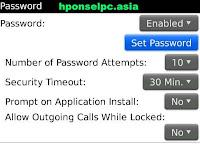 Cara memberi password pada handphone