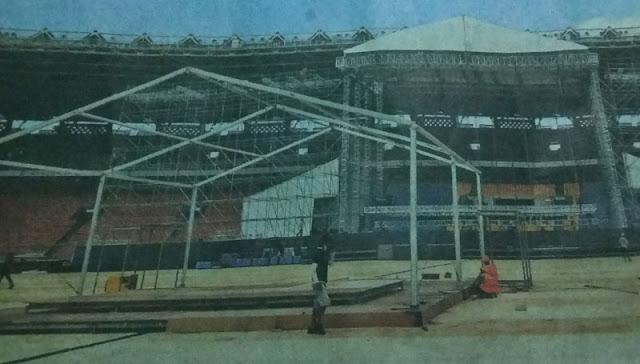 Stadion Utama Gelora Bung Karno berubah fungsi saat BOLA mati suri