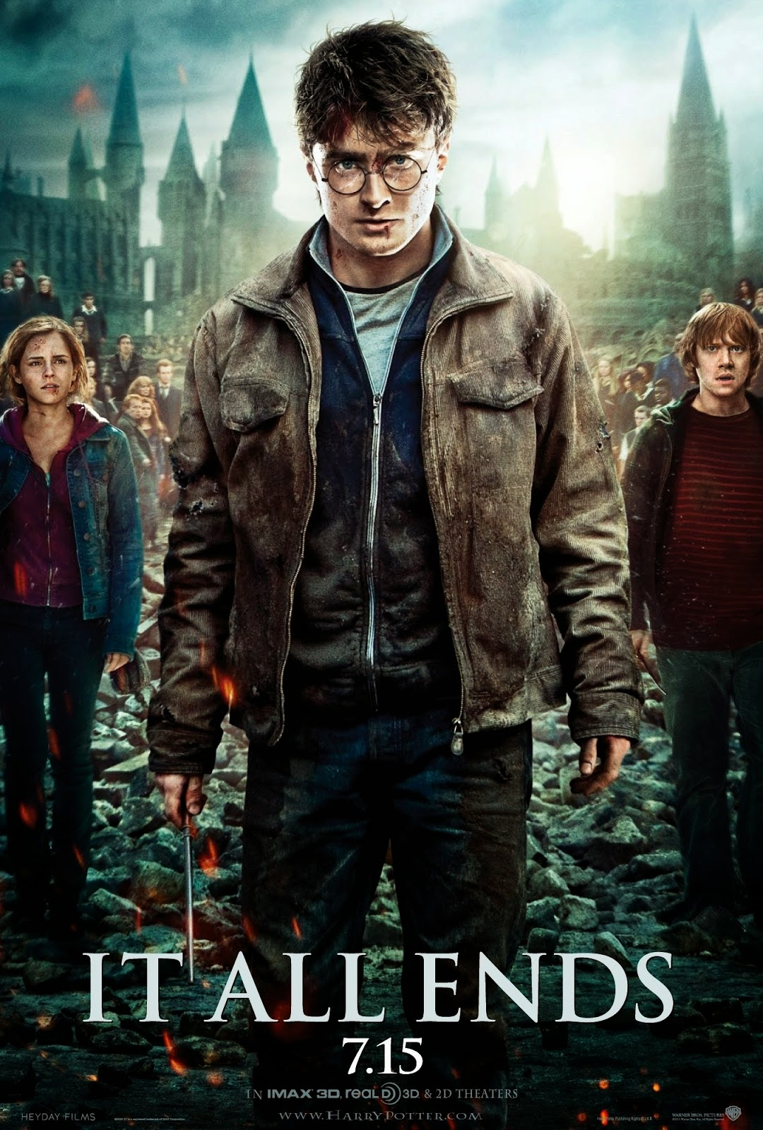 thesis statement on harry potter Daniel radcliffe in harry potter and the deathly hallows: part 2  i t all ends, says the poster slogan a potentially grim statement of the obvious, .