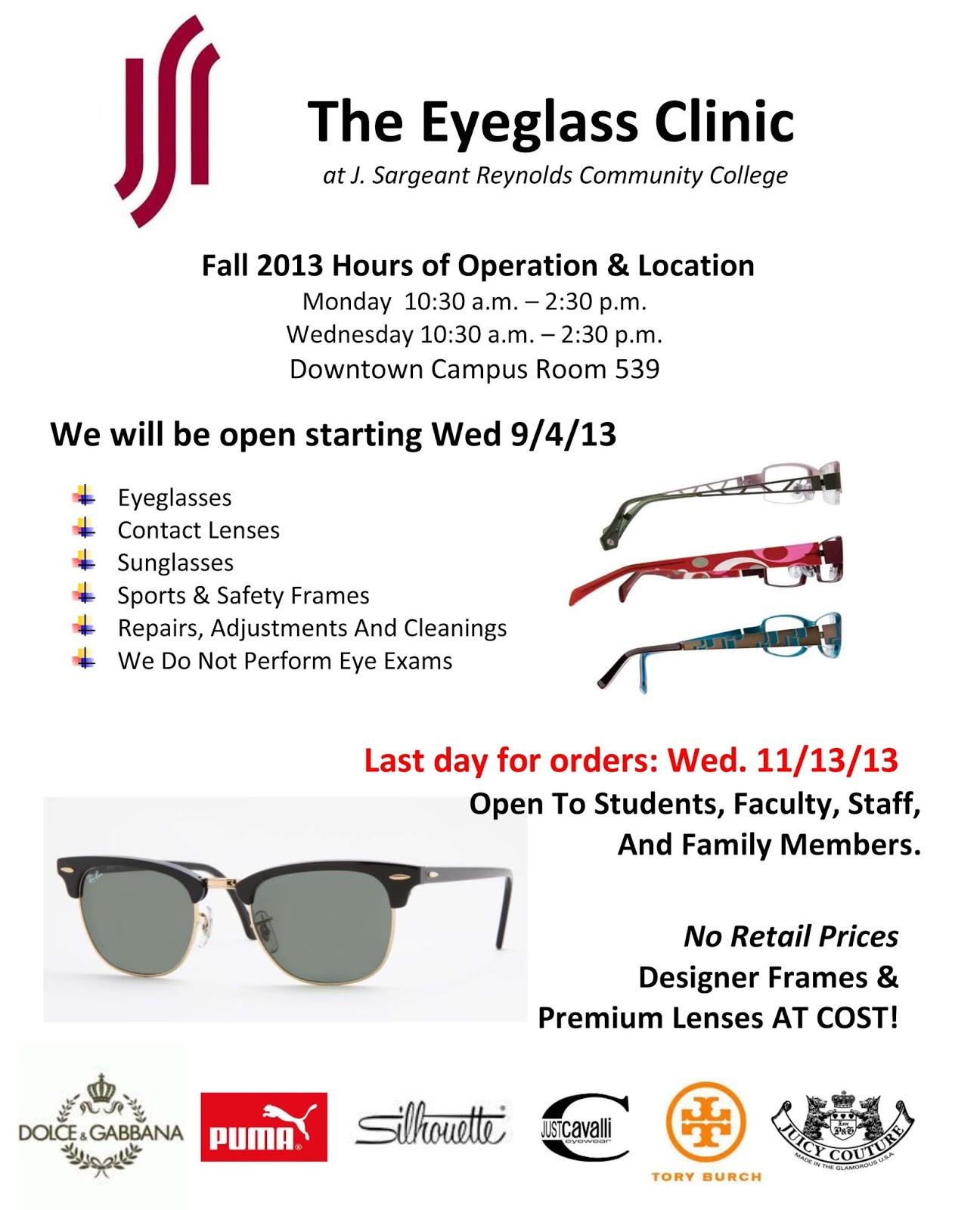 Campus Happenings: Fall Eyeglass Clinic