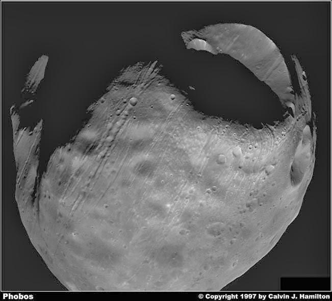 Fobos, la luna más grande de Marte