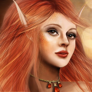 How to draw fantasy portrait from scratch in Photoshop