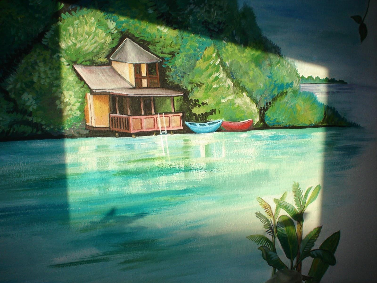 Maggie Murals: Tropical Shore Wall Mural