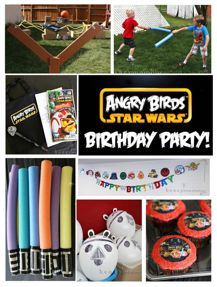 Honey Mommy Angry Birds Star Wars Birthday Party - Star wars birthday invitation diy