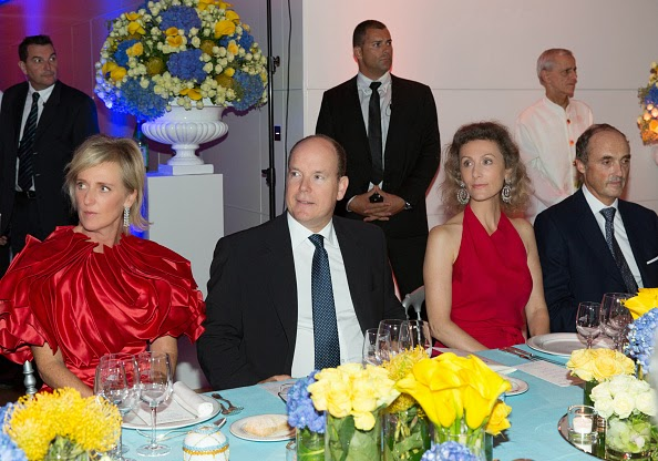 Prince Guillaume of Luxemburg, Princess Astrid of Belgium, Prince Albert II de Monaco, Princess Sibilla of Luxemburg, Prince Lorenz of Belgium, Mrs Dariga Nazarbayeva, Mrs Ornella Pessina and Prince Alwaleed bin Talal bin Abdulaziz al Saud